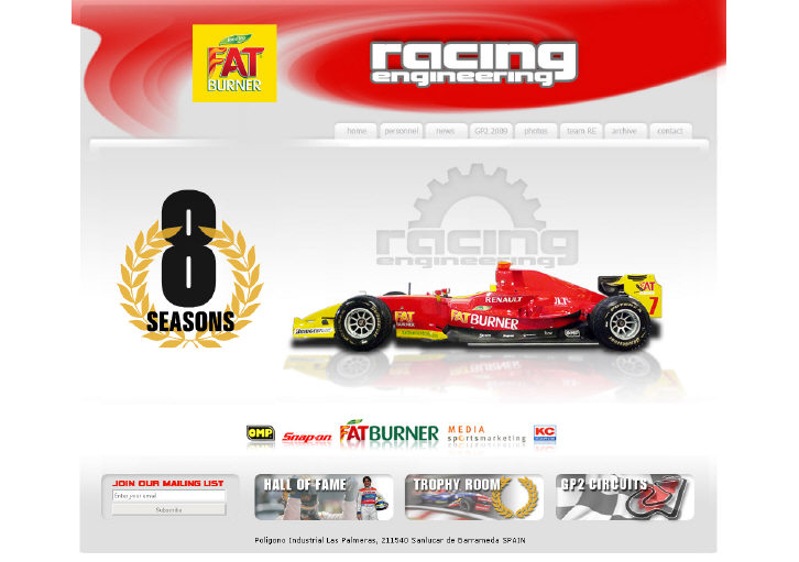 Internetadresse www.Racing-Engineering.com